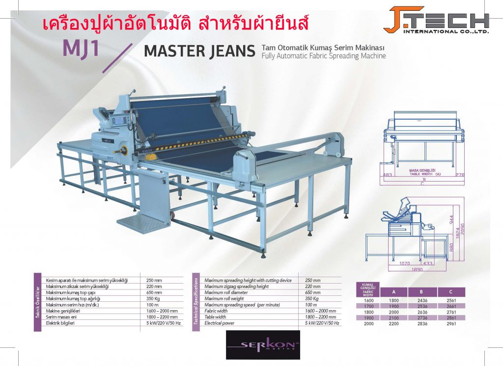 เครื่องตัดผ้าอัตโนมัติ SERKON MJ1