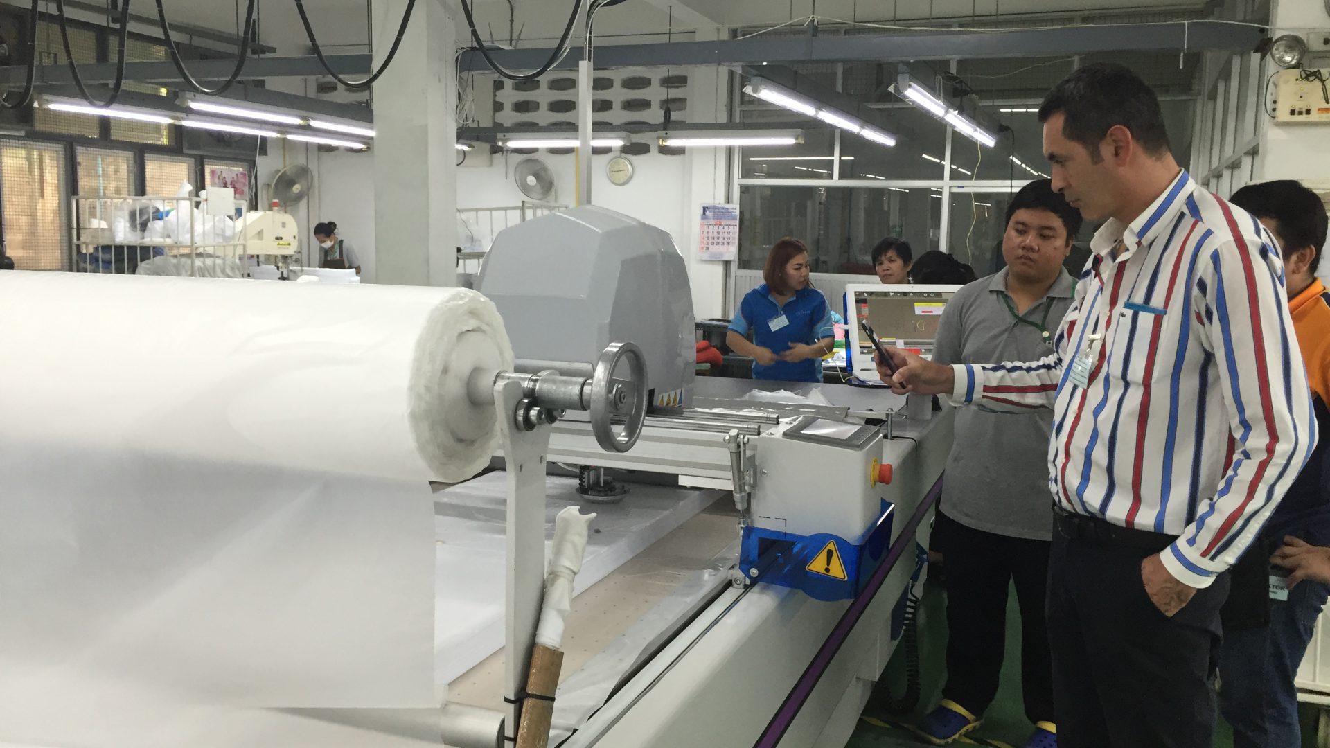 ทดสอบ เครื่องตัดผ้าอัตโนมัติ เครื่องตัดผ้า