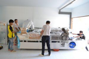 เครื่องตัดผ้าเข้าสู่พื้นที่การผลิต