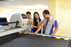 อธิบายการทำงาน เครื่องตัดผ้า เครื่องตัดผ้าอัตโนมัติ