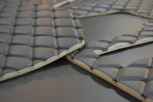 ชิ้นงานหลังการตัดด้วย เครื่องตัดผ้าอัตโนมัติ เครื่องตัดผ้าอัตโนมัติ