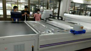 ทดสอบการใช้งานเครื่องตัดผ้าอัตโนมัติ